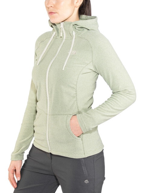 The North Face Mezzaluna Full Zip Hoodie Women Four Leaf Clover Stripe/Peyote Beige